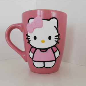 Hello Kitty mintás bögre , Bögre & Csésze, Konyhafelszerelés, Otthon & Lakás, Gyurma, Hello Kitty mintás bögre .\nKérésre más méretben, szíben, felirattal is elkészítem. \nTeáskanál is ren..., Meska