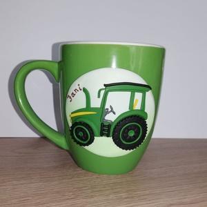 Traktoros bögre, Otthon & Lakás, Bögre & Csésze, Konyhafelszerelés, Traktoros bögre.  Kérésre más színben is elkészítem., Meska