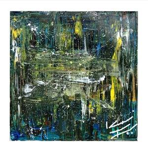 Unverzum- 50 x 50 cm-es absztrakt olajfestmény, Otthon & lakás, Képzőművészet, Festmény, Olajfestmény, Festészet, Univerzum/ 50 x 50 cm-es absztrakt olajfestmény, vászon és olajfesték felhasználásával. , Meska
