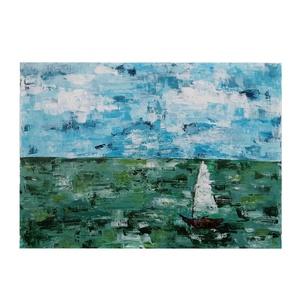 Magányos vitorlás- 50 x 7 cm vászonkép , Kép & Falikép, Dekoráció, Otthon & Lakás, Festészet, Egy festmény, ami a Balaton szerelmeseinek visszahozza a nyarat és a lubickolás örömét. \nBármelyik f..., Meska