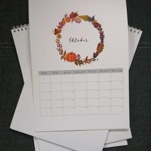 2021-es akvarell, jegyzetelős naptár A4-es méretben, Otthon & Lakás, Papír írószer, Naptár & Tervező, Fotó, grafika, rajz, illusztráció, 2021-es naptár akvarell virágokkal, jegyzetelős résszel, A4-es méretben. \nAz ár a postaköltséget nem..., Meska