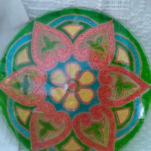 Mandala ( Szeretet - szerelem megerősítő Mandala ), Mandala, Dekoráció, Otthon & Lakás, Festett tárgyak, Egy Mandalát ösztöneink alapján választjuk ki, megérzéseinkre hagyatkozva.\nA Mandalákban lévő üzenet..., Meska