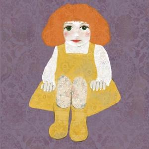 Sárga ruhás kislány grafika, Művészet, Grafika & Illusztráció, Fotó, grafika, rajz, illusztráció, Festészet, A4-es print 210 g/m2-es prémium matt fotópapíron.\nA printet keret nélkül küldöm.\nMinden grafikám dig..., Meska