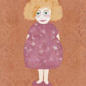 Vörös kislány grafika, Művészet, Grafika & Illusztráció, Festészet, Fotó, grafika, rajz, illusztráció, A4-es print 210 g/m2-es prémium matt fotópapíron.\nA printet keret nélkül küldöm.\nMinden grafikám dig..., Meska