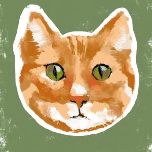 Vörös macska grafika, Művészet, Grafika & Illusztráció, Festészet, Fotó, grafika, rajz, illusztráció, A4-es print 210 g/m2-es prémium matt fotópapíron.\nA printet keret nélkül küldöm.\nMinden grafikám dig..., Meska