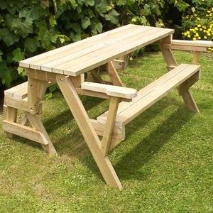 Asztal és pad egyben ha kicsi a helye a kertben teraszon ideális megoldás !!!!, Otthon & lakás, Bútor, Pad, Asztal, Famegmunkálás, A pad tömör 50mm fából készül több színben elérhető \nDió\nVörös Fenyő \nCseresznye\nRusztikus tölgy \nmé..., Meska