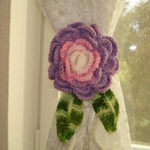 Függöny összekötő - függönyfogó horgolt rózsa, Otthon & Lakás, Lakástextil, Függöny, Horgolás, Kézzel horgolt függöny összekötő rózsa több szinben.\nHa más szín érdekel írj, szívesen elkészítem bá..., Meska
