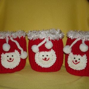 Télapó zsák horgolt, Karácsony & Mikulás, Mikulás, Horgolás, Kézzel horgolt télapó zsák.\nMérete 12 cm\nRendelésre is készítek!\nKérlek érdeklődj!\n, Meska