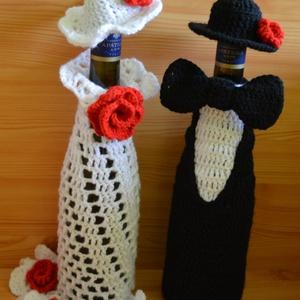 Flamenco táncospár, Dekoráció, Otthon & lakás, Dísz, Horgolás, Esküvőre készülsz....még nincs meg az ideális ajándék?\nPénzt kért az ifjú pár,de Te vinnél mégis val..., Meska