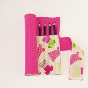 Leendő divattervezőknek - ceruzatekercs ceruzával - ovi- és sulikezdés - tolltartó & ceruzatekercs - Meska.hu