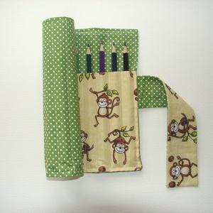 Majomparádé - ceruzatekercs ceruzával  - ovi- és sulikezdés - tolltartó & ceruzatekercs - Meska.hu