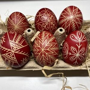 6 db piros hímes tojás, Otthon & Lakás, Dekoráció, Mindenmás, Hagyományos piros hímes tojás.\n\nA tojások 6 db klasszikus tyúktojás méretének felelnek meg.\n\n A híme..., Meska