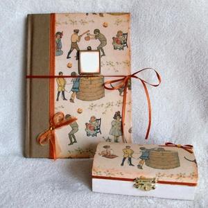 Napló -fiúknak , Otthon & Lakás, Papír írószer, Jegyzetfüzet & Napló, Olyat szerettem volna készíteni, mely egy férfi felnőtt korában is elővehető. A könyvjelzőt és a bor..., Meska