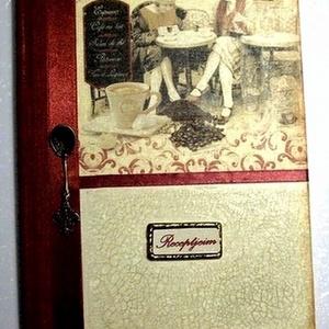 Bordó receptes , Otthon & Lakás, Konyhafelszerelés, Receptfüzet, Mindenkinek vannak olyan receptjei, melyet anyukájától, a nagyitól, vagy a barátnőjétől tanult. Add ..., Meska