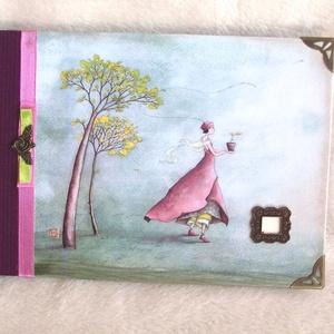 Album -  A palánta, Otthon & Lakás, Papír írószer, Album & Fotóalbum, Az album egyedi kézműves munka, lapjai krém színűek. A lapok vastagsága miatt alkalmas arra, hogy a ..., Meska