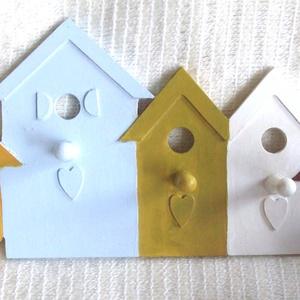 5 AKASZTÓS - Skandináv akasztó, kulcstartó, Otthon & Lakás, Kulcstartó szekrény, Bútor, Kicsit rusztikus, kicsit Vintage, de az biztos, hogy kedves és nagyon praktikus. Akaszthatsz rá kulc..., Meska