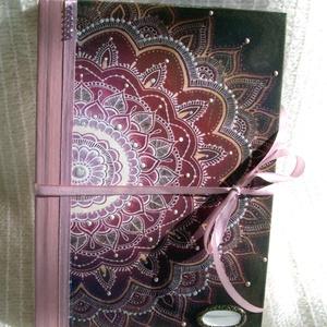 Emlékkönyv - Mandala mintával - szeretet, Otthon & Lakás, Papír írószer, Könyv, Napló méret:14,7 x 20,5 x 1 cm, (A/5-ös méret) Kb. 100 sima lapos, de rendelheted vonalas  lapokkal ..., Meska