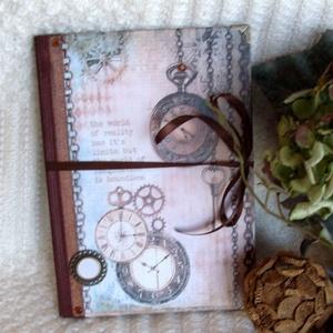 Emlékkönyv  - A múló idő, Otthon & lakás, Naptár, képeslap, album, Jegyzetfüzet, napló, Dekoráció, Naptár, Papírművészet, Ajánlom, igazi emlékkönyvnek, leánybúcsúztatóra, ballagásra vagy ha csak megszólít és veled szeretne..., Meska