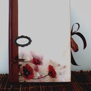 A/4-es méretű könyv - Pipacsokkal - Ballagásra, Otthon & Lakás, Papír írószer, Könyv, Papírművészet, Meska
