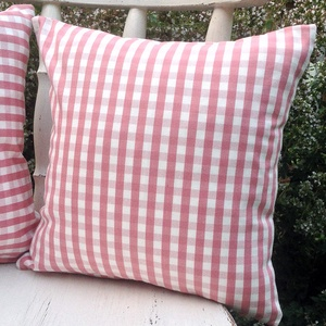 Rózsaszín-fehér kockás kispárna szett - otthon & lakás - lakástextil - párna & párnahuzat - Meska.hu