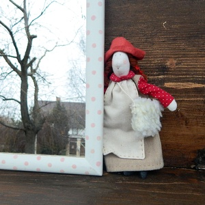 Rózsaszín lencsepöttyös tükör, Otthon & Lakás, Dekoráció, Tükör, Festett tárgyak, Meska