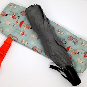 Vízhatlan esernyőtok cuki állatkák, Táska & Tok, Variálható táska, Varrás, Vízhatlan esernyőtok. Ha ebben a tokban tartod az esernyőd, akkor akár a táskádban is hordhatod amik..., Meska