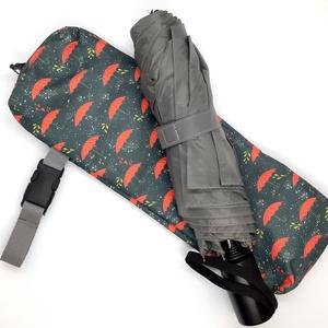 Vízhatlan esernyőtok korall színű esernyők , Táska & Tok, Variálható táska, Varrás, Vízhatlan esernyőtok. Ha ebben a tokban tartod az esernyőd, akkor akár a táskádban is hordhatod amik..., Meska