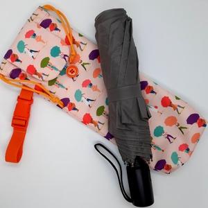 Vízhatlan esernyőtok sétáló hölgyek  , Táska & Tok, Variálható táska, Varrás, Vízhatlan esernyőtok. Ha ebben a tokban tartod az esernyőd, akkor akár a táskádban is hordhatod amik..., Meska