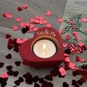 Szív alakú mécsestartó , Szív alakú gyertyatartó betonból.  A szív ala...