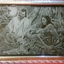Biblia részlet (Saját kézzel gravírozott kép), Képzőművészet, Grafika, Karc, Üvegművészet, Ez a kép a Bibliából való.  Szeretném ajánlani azoknak az embereknek,akik meglátják benne a szépet,..., Meska