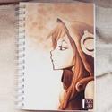 Anime lány, egyedi grafikás füzet: Medusa (saját grafika), Képzőművészet, Naptár, képeslap, album, Grafika, Jegyzetfüzet, napló, Boltunkban egyedi füzetek találhatóak, kemény műanyag borítóval ellátva, három méretben. A..., Meska