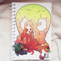 Anime, egyedi grafikás füzet (saját grafika), Képzőművészet, Naptár, képeslap, album, Grafika, Jegyzetfüzet, napló, Boltunkban egyedi füzetek találhatóak, kemény műanyag borítóval ellátva, három méretben. A..., Meska