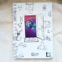 Galakszis, egyedi grafikás füzet (saját grafika), Képzőművészet, Naptár, képeslap, album, Grafika, Jegyzetfüzet, napló, Boltunkban egyedi füzetek találhatóak, kemény műanyag borítóval ellátva, három méretben. A..., Meska