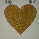 Szerelmes kulcstartó - egyedi nevekkel, Szív alakú, 3D-s kulcstartó, amit személyre sz...