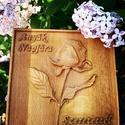 Anyáknapi rózsaszál, Dekoráció, Naptár, képeslap, album, Kép, Ajándékkísérő, Egyedileg is elkészíthető anyák napi ajándék, mellyel igazán különlegessé tudod varázsoln..., Meska