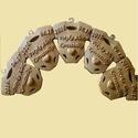 Baba kulcstartó, Gyerek & játék, Egyedi fa babaruha formájú kulcstartó, amelyen  a kisgyerkőc neve és születési dátuma látható az ado..., Meska