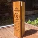 Egyedi feliratos boros doboz-dombormű, Egyéb, Domborműves egyedi feliratos fa boros doboz egyedi motívumokkal, amely bármely fontosabb alkalomra n..., Meska