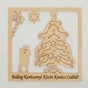 Egyedi karácsonyi kép - szerelmes párral, Dekoráció, Karácsonyi, adventi apróságok, Ünnepi dekoráció, Karácsonyi dekoráció, Egyedi fa karácsonyi kép tetszőlegesen választható felirattal, névvel, motívummal. , Meska
