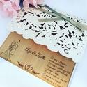 Esküvői meghívó, Esküvő, Esküvői dekoráció, Meghívó, ültetőkártya, köszönőajándék, Ha igazán különleges fából készült meghívót szeretnétek az esküvőtökre!  A képen látható termék egy ..., Meska