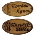 Focicsapat címeres ajtó névtábla, Otthon & lakás, Dekoráció, Lakberendezés, Ajtódísz, kopogtató, Egyedi faragott fa ajtó névtábla, amely rendelhető domborműves és égetett kialakítással is, tetszőle..., Meska