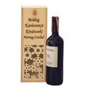 Karácsonyi boros doboz, Egyedi fa karácsonyi borosdoboz- tetszőlegesen v...