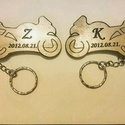 Motoros kulcstartó pár (2db), Mindenmás, Kulcstartó, Kiváló egyedi ajándék motorosoknak. Egyedileg tudom elkészíteni az általad megadott felíratt..., Meska