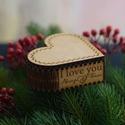 Szív doboz, Ékszer, Otthon & lakás, Ékszertartó, Szerelmeseknek, Ünnepi dekoráció, Dekoráció, Egyedi szív alakú doboz, mellyel igazán ki tudod mutatni a párod iránt érzett szerelmedet. A tetejér..., Meska