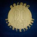 Születésnapi kép - 80. születésnapra, Otthon & lakás, Dekoráció, Kép, Egyedi születésnapi fa kép, amely 3D-s domborműves kialakítással készült, választható évszámmal...., Meska