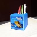 Asztali tolltartó, Otthon, lakberendezés, Bútor, Tárolóeszköz, Asztal, Mindenmás, Asztali tolltartó Elején 5 db microSD, 2 db SD kártya, 3 db pendrive hely  8x8x8 cm  Választható sz..., Meska