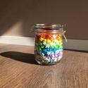 365 origami szerencsecsillag szívecskés csatos üvegben, Dekoráció, Otthon, lakberendezés, Papírművészet, Szerencsehozó papírcsillagok mindenféle színben. Ebben a cuki csatos üvegben pont 365-en vannak. A ..., Meska