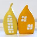 2 db színes házikó fehér ablakokkal lakásdekorációnak, Valentin napra ajándéknak, Otthon & lakás, Lakberendezés, Dekoráció, Dísz, 2 db színes házikó fehér ablakokkal lakásdekorációnak, Valentin napra ajándéknak Két egymáshoz simul..., Meska