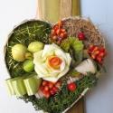 Teli szív rózsával - romantikus virág dekoráció , Dekoráció, Otthon, lakberendezés, Szerelmeseknek, Ünnepi dekoráció, Szív alapon romantikus szárazkötészeti kompozíció. A szív alakú tartó papírmasé jellegű, újrahasznos..., Meska