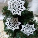 Horgolt csillag , Karácsonyi, adventi apróságok, Karácsonyfadísz, Karácsonyi dekoráció, 8 cm-es karácsonyi horgolt csillag - kikeményítve, Meska