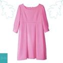 Kasmír rózsa színű lányka ruha, Kasmír rózsa  színű, puha tapintású pamut ru...